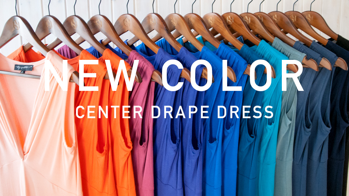 LASKA Centre Drape Dress